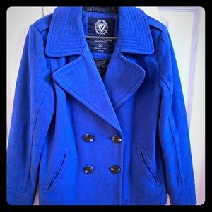 American Eagle Royal Blue Pea coat size M